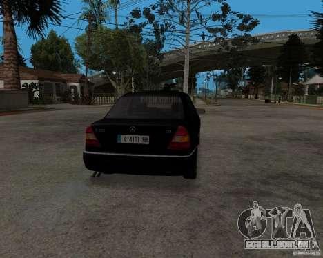Mercedes-Benz C220 W202 1996 para GTA San Andreas traseira esquerda vista