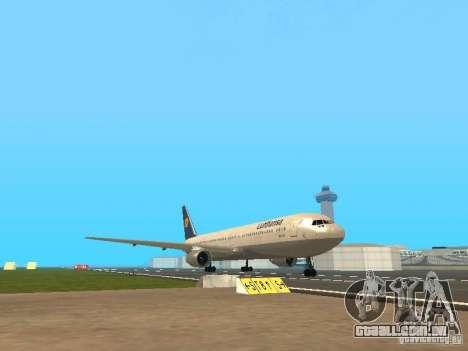 Boeing 767-300 Lufthansa para GTA San Andreas esquerda vista
