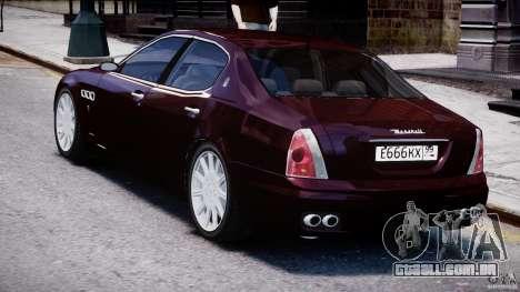 Maserati Quattroporte V para GTA 4 vista direita