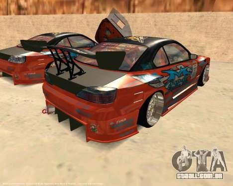 Nissan Silvia S15 Ms Sports para GTA San Andreas traseira esquerda vista