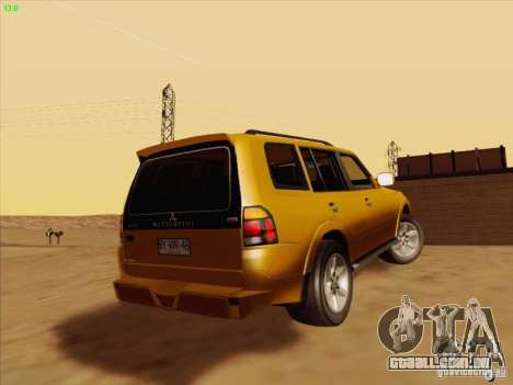 Mitsubishi Montero para GTA San Andreas esquerda vista