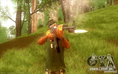 Kalashnikov HD para GTA San Andreas sexta tela