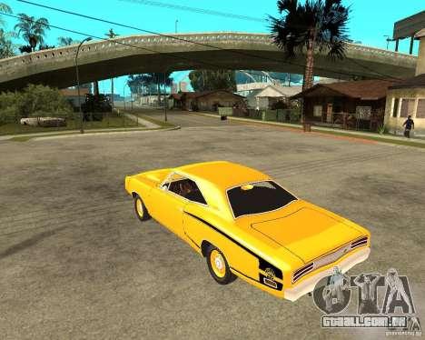 Dodge Coronet Super Bee 70 para GTA San Andreas esquerda vista