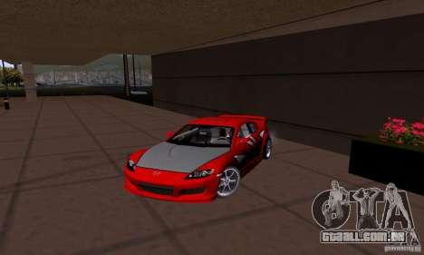 Mazda RX-8 Speed para GTA San Andreas esquerda vista