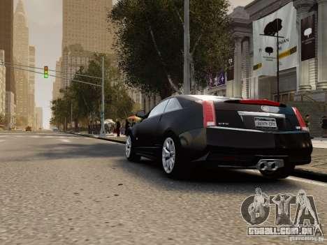 Cadillac CTS-V Coupe 2011 para GTA 4 traseira esquerda vista
