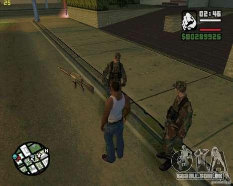 Atirando armas para GTA San Andreas segunda tela