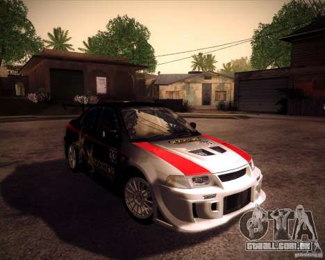 Mitsubishi Lancer Evolution VI 1999 Tunable para GTA San Andreas vista traseira