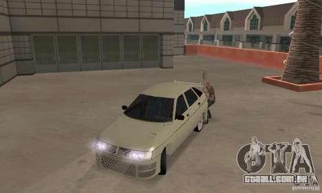 LADA 2112 Tuning (F) para GTA San Andreas esquerda vista
