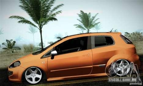 Fiat Punto Evo 2010 Edit para GTA San Andreas esquerda vista