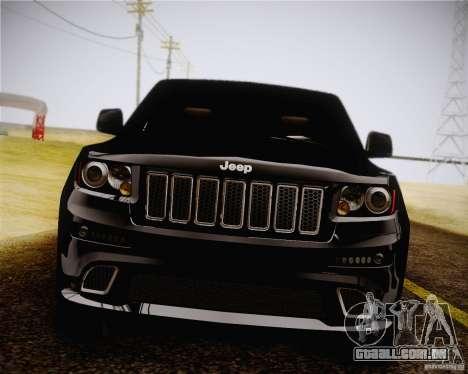 Jeep Grand Cherokee SRT-8 2012 para GTA San Andreas traseira esquerda vista
