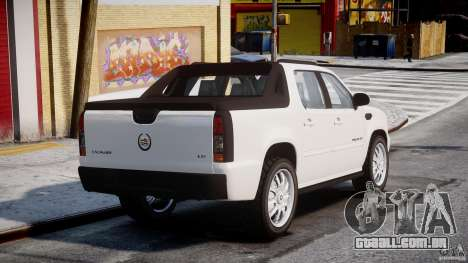 Cadillac Escalade Ext para GTA 4 traseira esquerda vista