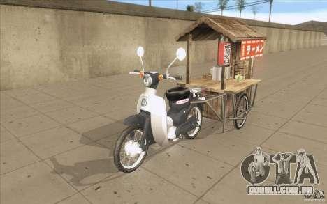 Honda Super Cub com um carrinho para GTA San Andreas