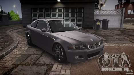 BMW 3 Series E46 v1.1 para GTA 4 vista de volta