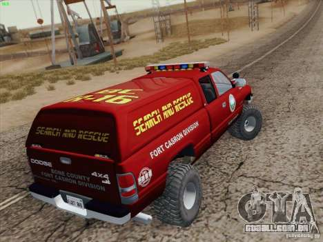 Dodge Ram 3500 Search & Rescue para o motor de GTA San Andreas