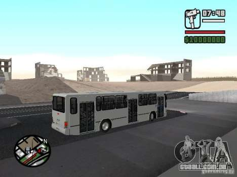 Busscar Urbanus SS Volvo B10M para GTA San Andreas vista traseira