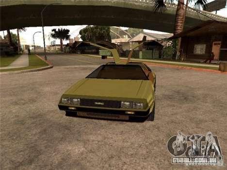 Golden DeLorean DMC-12 para GTA San Andreas