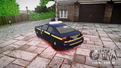 New York State Police Buffalo para GTA 4 traseira esquerda vista