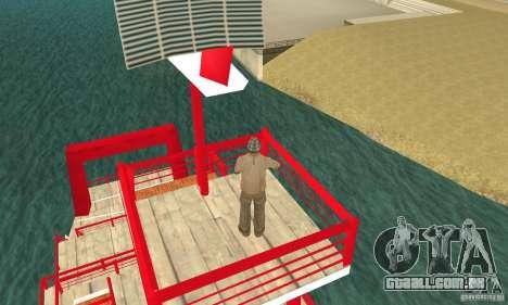 Vice City Ferryboat para GTA San Andreas vista traseira