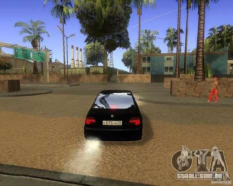 BMW 525i e39 para GTA San Andreas vista traseira