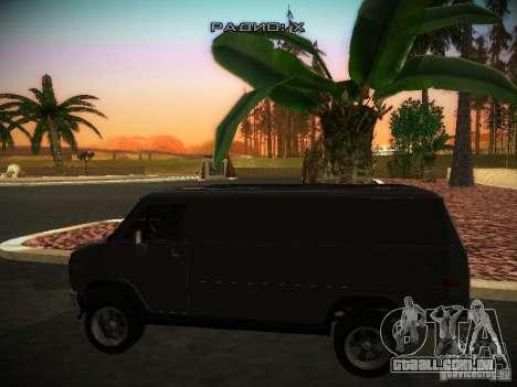 GMC Vandura para GTA San Andreas traseira esquerda vista