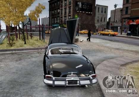 Hudson Hornet Club Coupe para GTA 4 traseira esquerda vista
