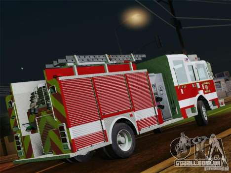 Pierce Pumpers. San Francisco Fire Departament para GTA San Andreas vista superior