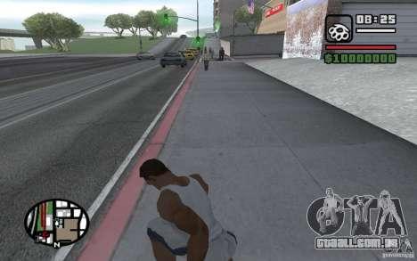 Faca jogando para GTA San Andreas por diante tela