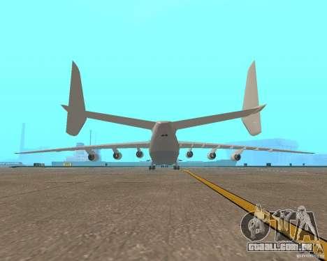 O an-225 Mriya para GTA San Andreas traseira esquerda vista