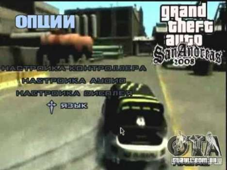 Vídeo de drift de menu GTA4 para GTA San Andreas