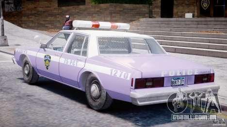 Chevrolet Impala Police 1983 v2.0 para GTA 4 vista direita
