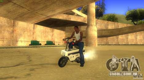 Honda Motocompo para GTA San Andreas traseira esquerda vista