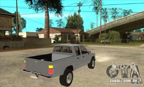 Toyota Hilux CD para GTA San Andreas vista direita
