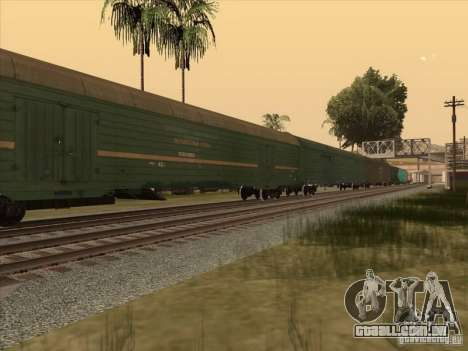 Vagão # 59004960 para GTA San Andreas esquerda vista