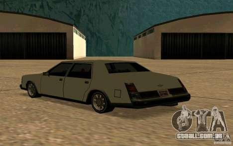 FBI Washington para GTA San Andreas traseira esquerda vista