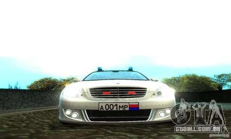 Mercedes-Benz S500 W221 Brabus para GTA San Andreas vista direita