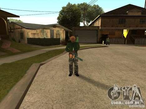 Jogando as lâminas para GTA San Andreas segunda tela