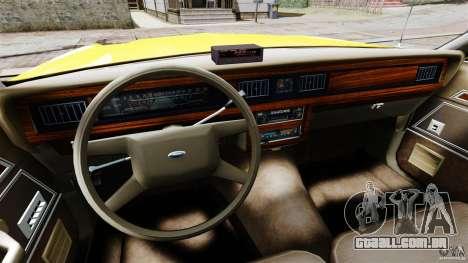 Ford LTD Crown Victoria 1987 L.C.C. Taxi para GTA 4 vista de volta