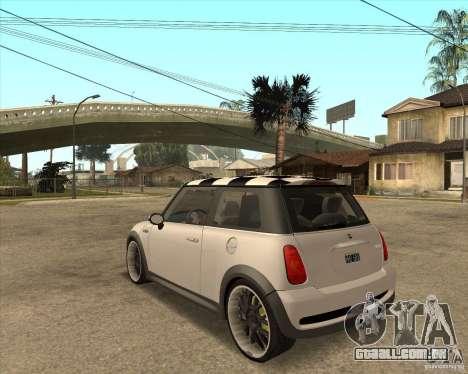 Mini Cooper para GTA San Andreas esquerda vista
