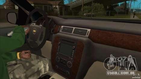 Chevrolet Cheyenne 2011 para GTA San Andreas vista interior