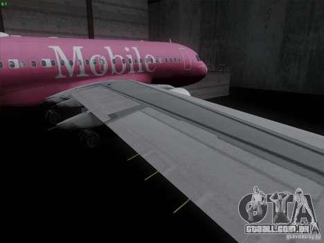 Airbus A319 Spirit of T-Mobile para GTA San Andreas vista interior