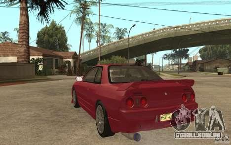 Nissan GTS-T 32 Beta para GTA San Andreas traseira esquerda vista
