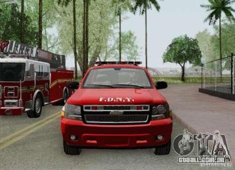 Chevrolet Suburban EMS Supervisor 862 para o motor de GTA San Andreas