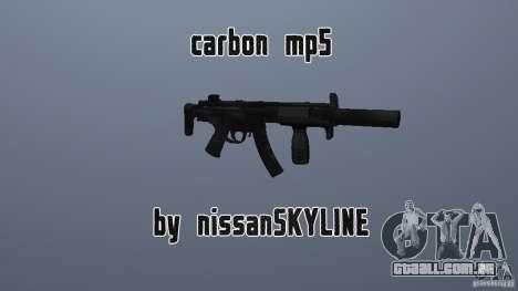 MP5 de carbono com um silenciador para GTA San Andreas
