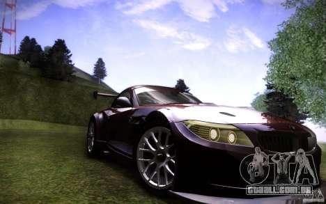 BMW Z4 E89 GT3 2010 para GTA San Andreas vista direita