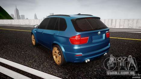 BMW X5 M-Power wheels V-spoke para GTA 4 traseira esquerda vista