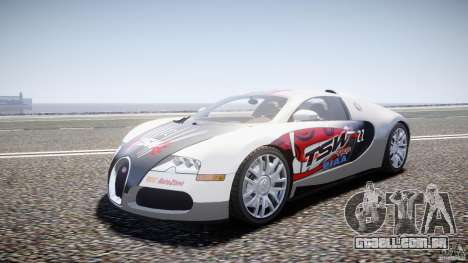 Bugatti Veyron 16.4 v1 para GTA 4 vista de volta