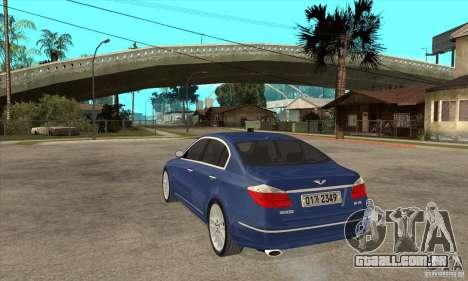 Hyundai Genesis para GTA San Andreas esquerda vista