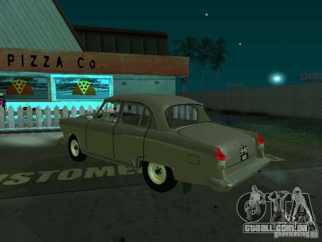 Volga GAZ 21 para GTA San Andreas traseira esquerda vista