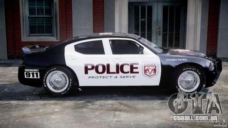 Dodge Charger SRT8 Police Cruiser para GTA 4 vista inferior