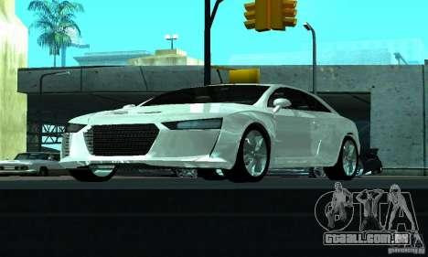 Audi Quattro Concept 2013 para vista lateral GTA San Andreas